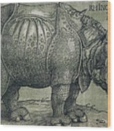 The Rhinoceros Wood Print by Albrecht Durer