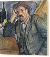 The Smoker Wood Print by Paul Cezanne