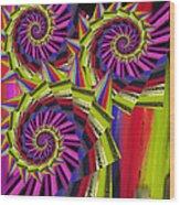 Thorns Wood Print by Soumya Bouchachi