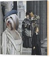 Tibetan Terrier Art Canvas Print Wood Print