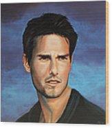 Tom Cruise Wood Print
