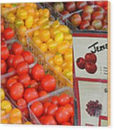 Tomatoes Nj Special Wood Print