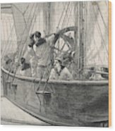 Training Naval Cadets On A  Swinging Wood Print