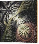 Trilobite Trail Wood Print