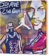 Truly Michael Jordan  Wood Print by Tony B Conscious