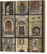 Uk Doors Wood Print by Christo Christov