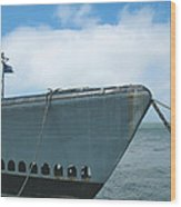 Uss Pampanito - Vintage Submarine Wood Print