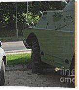 Vehicle Of The Future Wood Print