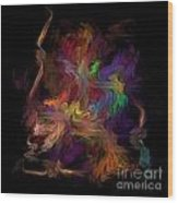Veils Of Many Colors Wood Print