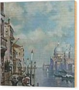 Venice At Noon Wood Print