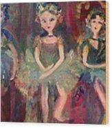 Victorian Christmas Ballet Wood Print