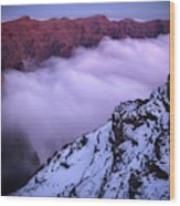 View Across The Caldera Taburiente Wood Print