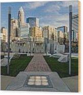 View Of Charlotte Skyline Wood Print