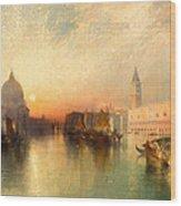 View Of Venice Wood Print by Thomas Moran