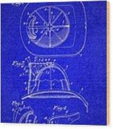 Vintage 1932 Firemans Helmet Patent Wood Print