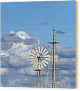 Water Windmills Wood Print by Stelios Kleanthous