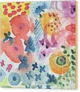 Watercolor Garden Wood Print