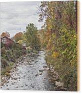 White Laural Creek- Mid-town Damascus Wood Print