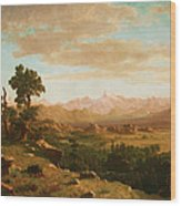 Wind River Country Wood Print