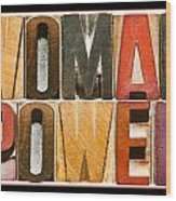 Woman Power Wood Print