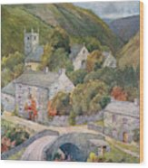 Yorkshire Scenery Muker In Swaledale Wood Print
