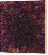 0 Through 9 Wood Print