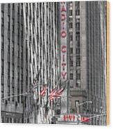 0007 Radio City Music Hall Wood Print