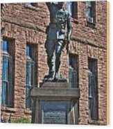001 American Doughboy Over The Top To Victory Wood Print