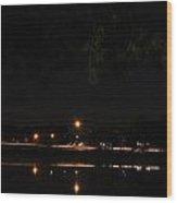 001 Japanese Garden Autumn Nights   Wood Print