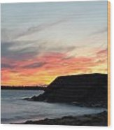 0010 Awe In One Sunset Series At Erie Basin Marina Wood Print