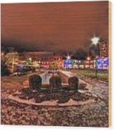 0010 Christmas Light Show At Roswell Series Wood Print
