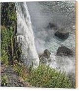 0010 Niagara Falls Misty Blue Series Wood Print