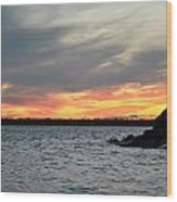 0011 Awe In One Sunset Series At Erie Basin Marina Wood Print