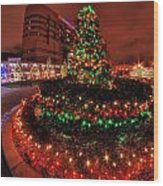 0011 Christmas Light Show At Roswell Series Wood Print