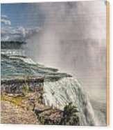 0011 Niagara Falls Misty Blue Series Wood Print