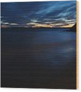 0013 Awe In One Sunset Series At Erie Basin Marina Wood Print
