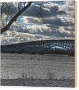 0013 Grand Island Bridge Series Wood Print