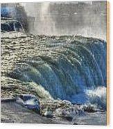 0013 Niagara Falls Winter Wonderland Series Wood Print