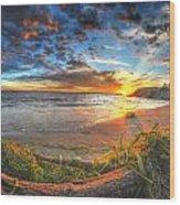 0014 Awe In One Sunset Series At Erie Basin Marina Wood Print