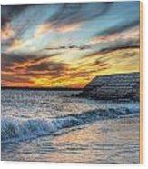 0016 Awe In One Sunset Series At Erie Basin Marina Wood Print
