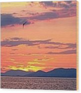 0016233 - Patras Sunset Wood Print