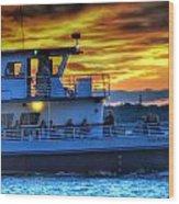 0017 Awe In One Sunset Series At Erie Basin Marina Wood Print