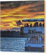 0019 Awe In One Sunset Series At Erie Basin Marina Wood Print