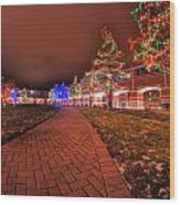002 Christmas Light Show At Roswell Series Wood Print