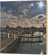002 Erie Basin Marina D Dock Wood Print