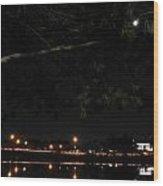 002 Japanese Garden Autumn Nights Wood Print
