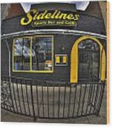 002 Sidelines Sports Bar And Grill Wood Print