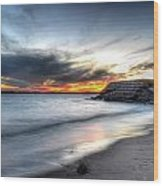 0020 Awe In One Sunset Series At Erie Basin Marina Wood Print