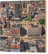 0023a Visual Highs Of The Queen City Wood Print