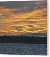 003 Awe In One Sunset Series At Erie Basin Marina Wood Print